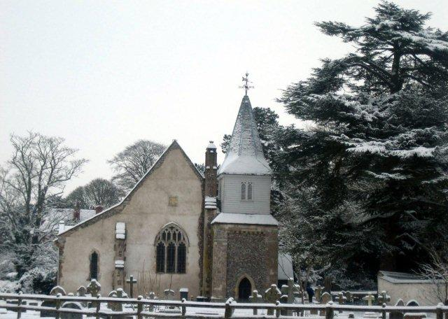 Chilbolton Church - in Winter