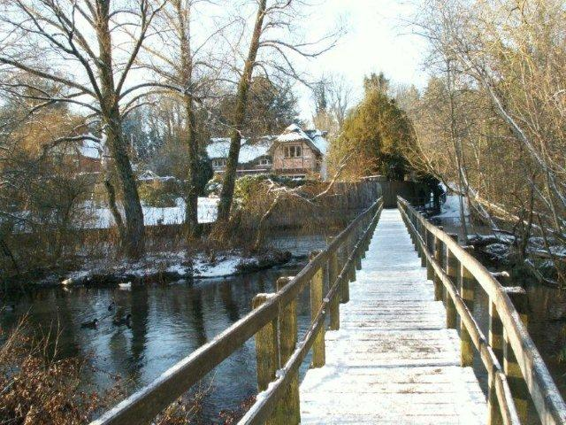 Wherwell - Long Bridge in Winter